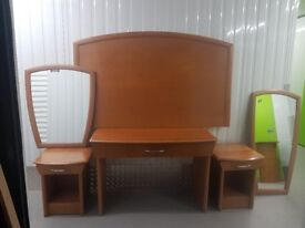 Bedroom Wooden Furniture Set- - 6 pieces - High quality & Excellent condition