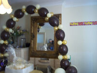 BALLOON DECORATIONS, FERRIS WHEEL SWEET CANDY CART HIRE CHAIR COVERS N SASHES WEDDING CENTREPIECES