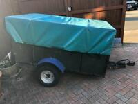 Metal Frame Trailer with tailgate