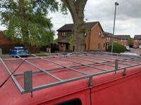Heavy duty roof rack for SWB transit