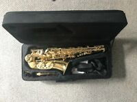 Vivace Alto Saxophone with Reeds and Strap, Only used once. Basically brand new!
