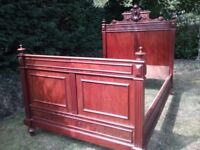 Antique french style poster bed.