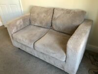 Beige 2 Seater Sofa in soft brushed fabric. 6 months old perfect condition