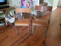 Vintage Retro Old School Children Chairs Kids Chairs Side Table
