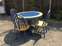 Tiled Table and chairs