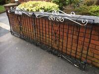 8ft Wide Wrought Iron Driveway gates / garden gates £35