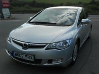 HONDA CIVIC 1.3 EMA HYBRID ES AUTO, 2007, LOW MILEAGE ONLY 48'000, HONDA FSH, JUST SERVICED, SUPERB