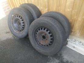 "14"" Inch Vauxhall Steel Wheels with 185/70/14 tyres in great condition from vauxhall corsa 'D' 2008"