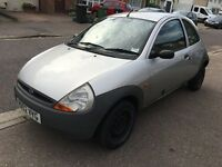Ford KA 1299cc Petrol 5 speed manual 3 door hatchback 02 Plate 26/03/2002 Silver