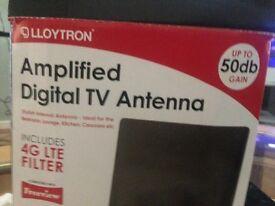 Amplified tv antenna 4g let filter
