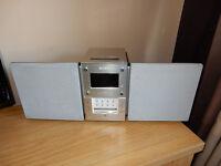 Sony mini hifi with mini disc, radio & remote control