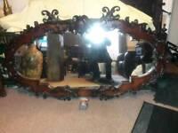 Very large antique mirror