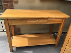Console, bookcase & TV bench