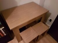 Argos table and chairs oak effect