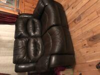Dark Brown 3 & 2 Seater Reclining Suite