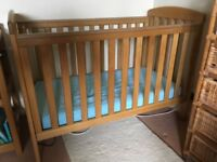 Mamas and Papas Solid Oak Cot