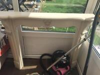 Free cream painted fire surround