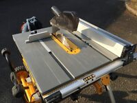 DeWalt Table Saw and Stand 240v virtually new
