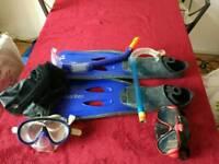 Snorkeling set fins 42-43 l