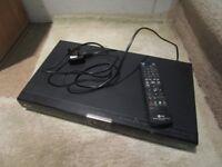 LG Blu-ray/DVD player black with remote