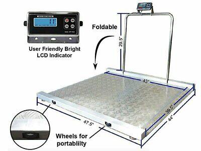 Selleton Op-917 Aluminum Wheel Chair Drum Scale 1000 Lb X .2 Lb