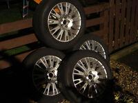 4 tyres on alloy wheels