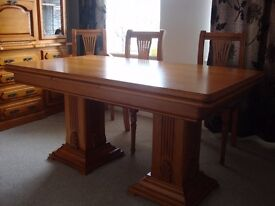 dining table[extending], 6 chairs