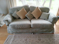 Hammond 3-seater and 2-seater sofas with matching armchair and foostool, all with loose covers