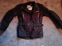 Motorbike clothing, jacket 12 trousers 12 helmet S boots 6