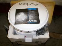 SATELLITE -NEW STILL IN PACKAGING AVTEX QUICKFIND AQF431 FULLY AUTOMATIC PORTABLE SATELLITE