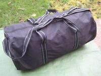 Large Black Fabric Cylindrical-Shaped Sports Bag/Travel Bag for £6.00
