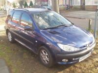 Peugeot 206 SW XT Estate Petrol 1400cc (Not Ford Vauxhall VW Citreon toyota Nissan skoda)