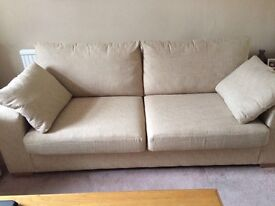 Next large 2 seater sofa and snuggle chair