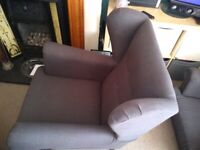 High winged back chairs