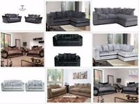 **FREE DELIVERY BRAND NEW SOFAS SALE PRICES CORNER OR 3 SEATER 2 SEATER SETTEE COUCH SUITE FABRIC**