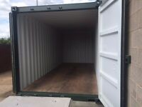 Secure 20ft x 8ft storage container for rent in Coventry
