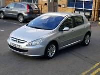 2005 peugeout 307 1.6 hdi 110 bhp qicksilver mint car
