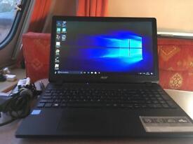 Acer Aspire ES 15 laptop, 500 HDD, 4 gb RAM, Windows 10, can deliver
