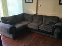 Large Corner Sofa, 2 Seater, Tub Chair & Pouf Excellent condition