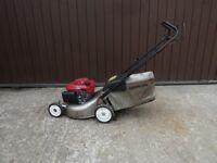 "18"" Honda Izy Push Petrol Lawnmower with Grass Box"