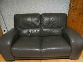 x2 two seater leather sofas