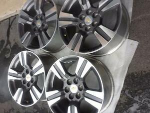 BRAND NEW TAKE OFF 18 INCH CHEVY COLORADO ALLOY WHEEL SET OF FOUR.