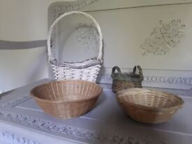 *Bundle 4 Lovely Baskets*WICKER BASKETS*FLORIST*