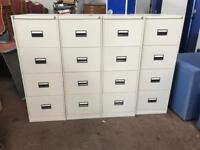 4 Draw Light Grey Metal Filing Cabinets with Keys