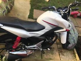 Honda CB125F white PGM-fi low 490 miles only