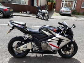 Honda CRB600rr 06 reg black and silver only 8000 miles lovely condition 1 year mot £2950 bargin