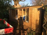 Insulated Double dog kennel