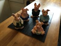 COLLECTABLE CLASSIC RETRO NATWEST PIGS SET OF 5 EXCELLENT CONDITION £75