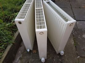 Radiators with valves,3 for £30