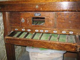 Vintage Riley's Bar Billiards Table